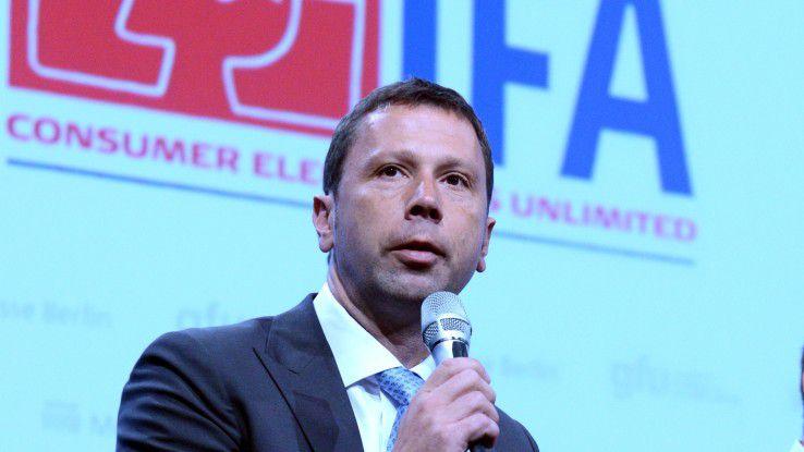 IFA-Direktor Jens Heithecker kann sich über eine ausgebuchte Messe freuen.