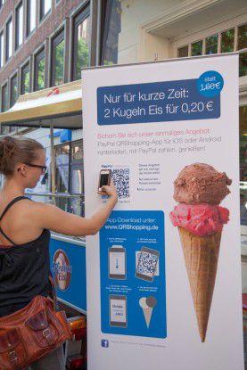 Auch eine Eisdiele nimmt an dem Pilotprojekt von PayPal teil