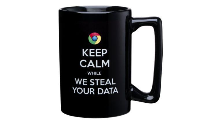"""""""Ruhe bewahren, während wir Deine Daten stehlen"""": Microsoft will Google bloßstellen."""