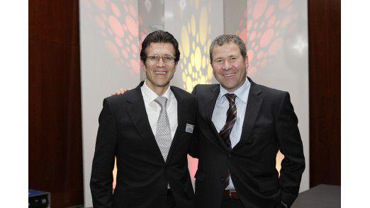 Michael Gorriz (links) zusammen mit CIO-Kollege Klaus Straub bei der Preisverleihung zum CIO des Jahres 2009.