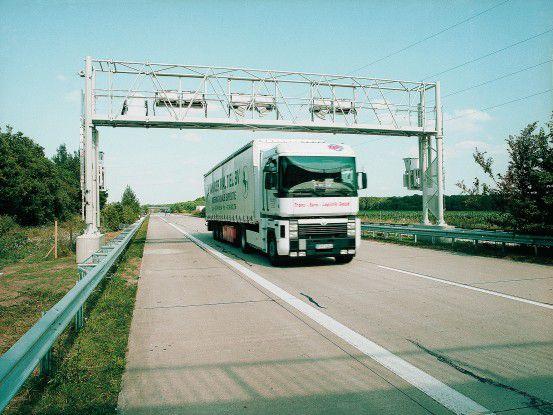Maut-Kontrollbrücke von Toll Collect