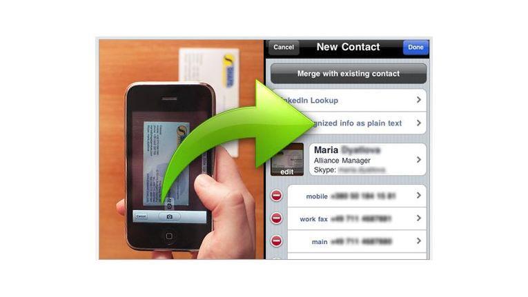 Visitenkarten Mit Dem Smartphone Scannen Android Itunes