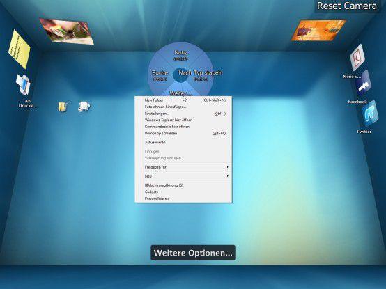 Der 3D-Desktop von Bumptop