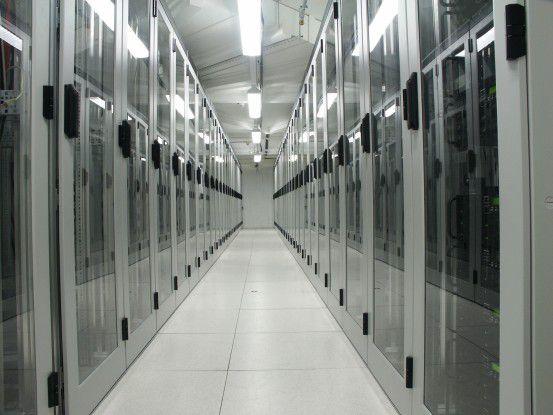 Server-Schränke im 1&1-RZ