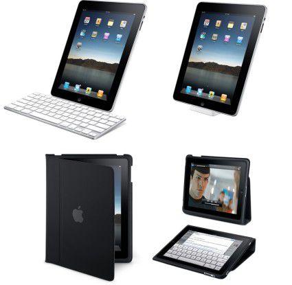 Als Zubehör für das iPad gibt es unter anderem ein Dock mit Tastatur.
