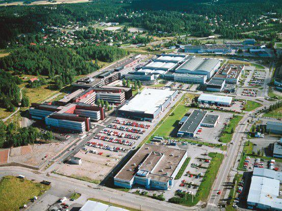 Das Nokia-Werk in Salo, Finnland
