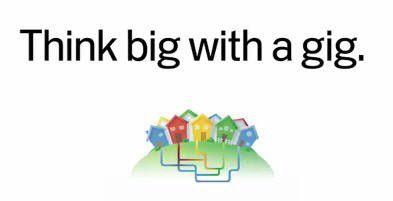 """Unter dem Motto """"Think big with a gig"""" wirbt Google für seine Netzpläne."""