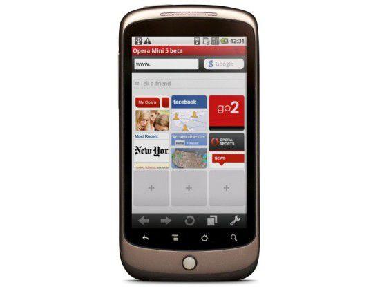 Opera Mini auf dem Nexus One