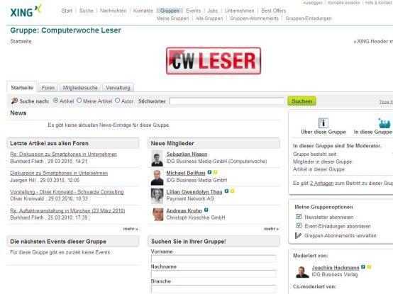 In der Xing-Gruppe Computerwoche Leser können Sie direkt mit CW-Redakteuren und IT-Profis Kontakt aufnehmen.