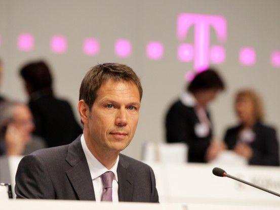 Telekom-Chef René Obermann auf der Hauptversammlung 2010