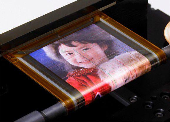 Photoshop? Angeblich nicht, sondern ein biegsames OLED-Display von Sony.