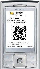 Die Bahn liefert Fahrkarten per MMS direkt auf das Handy.