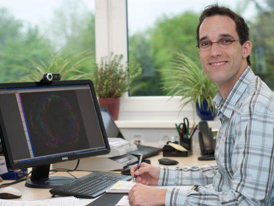 Christoph Brune, Doktorand an der Uni Münster, forscht über die 4D-Bildrekonstruktion und Bildverarbeitung in der Tomographie.