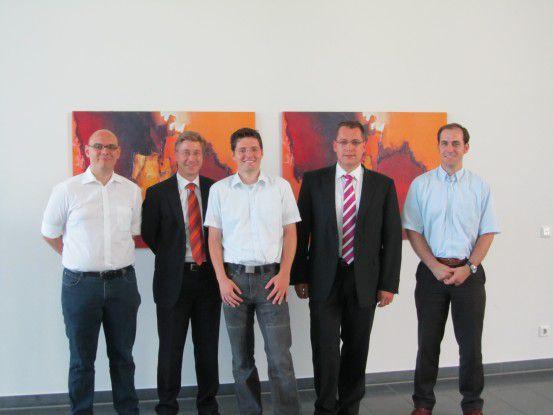 Verlierer gab es nicht, nur Gewinner -nämlich: Mario Niemann, Thomas Lückert, Sebastian Köffer, Tobias Kreuser und Holger Troch (v.l.n.r.)