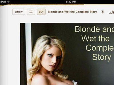 Zu heiß für das iPad? Britischer iBooks-Store-Besteller Blonde and Wet.