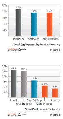 Platform as a Service ist die beliebteste Service-Art, besonders im Web-Hosting-Bereich sind Cloud-Services stark vertreten.