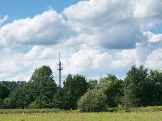 Der neue LTE-Sendemast der Telekom in Kyritz (Brandenburg)