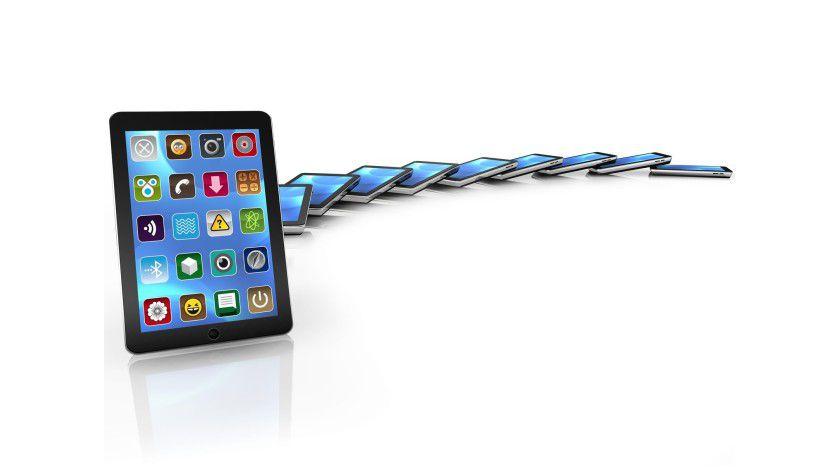 Das Resultat täuscht: Apps sind kein Kinderspiel - zumindest für Entwickler. Foto: Fotolia.com/morganimation; thegnome