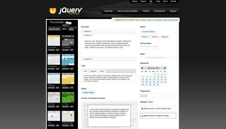 Das Look and Feel der eigenen Web-Anwendung lässt sich mit JQuery UI online konfigurieren.