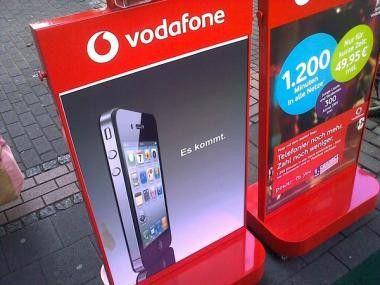 Vodafone wirbt bereits mit dem iPhone 4. Foto: U. Vetter