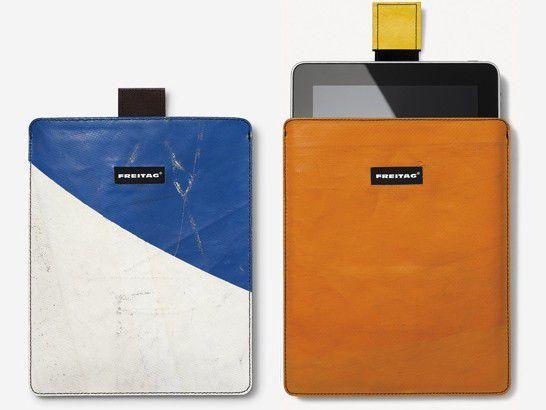Das F23 iPad Sleeve ist aus recycleter LKW-Plane - wie immer jedes Stück ein Unikat.