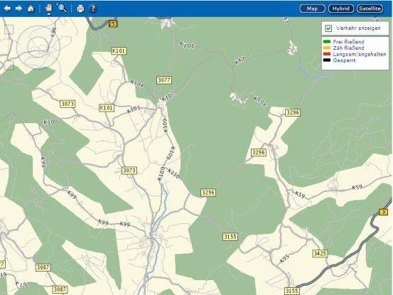 Die Speditionssoftware berücksichtigt Kartendaten - ein Plus für die Logistik bei Weber Data Service.