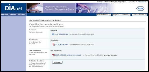 PDF-Renditions werden zum Dokument automatisch erstellt.