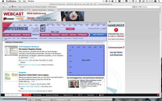 Mit Pixelwindow können gleichzeitig mehrere Bildschirmlineale verwendet werden.