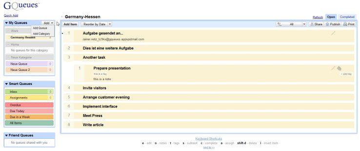 Aufgabenverwaltung mit CQueues.
