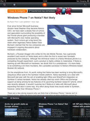 Viele populäre mobile Anwendungen basieren auf Phonegap. So zum Beispiel die iPad-Version des englischsprachigen Technik-Magazins Ars Technica.