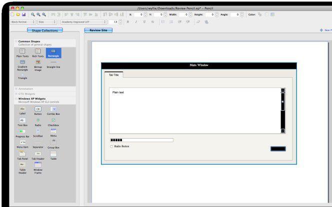 Pencil Sketching: GUI-Skizzen in Firefox.