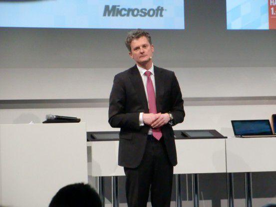 Microsoft-Chef Ralph Haupter will Tempo in die deutsche Cloud bringen.