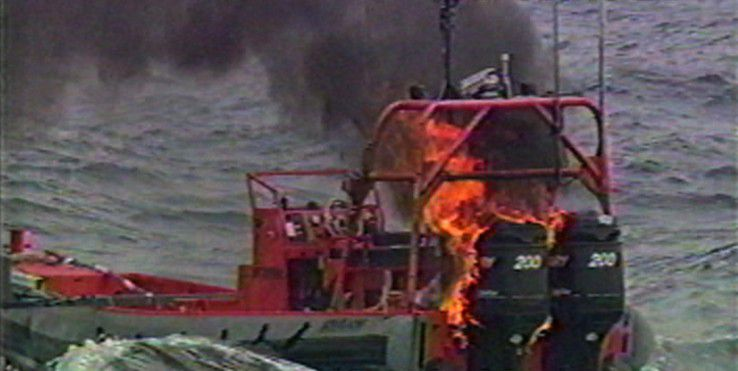 ... und nachher: Es sieht zwar nicht spektakulär aus, ist aber ein Meilenstein der maritimen Kriegsführung.