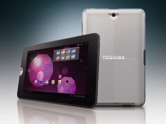 Scharf, groß und schwer - das AT300 Tablet von Toshiba.