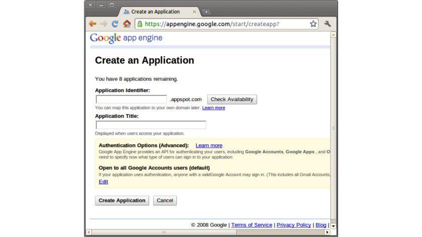 So geht es: Anlegen einer neuen Anwendung mit Google App Engine.