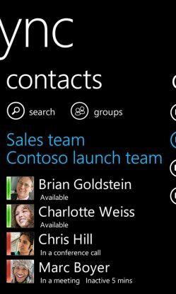 Lync for Windows Phone