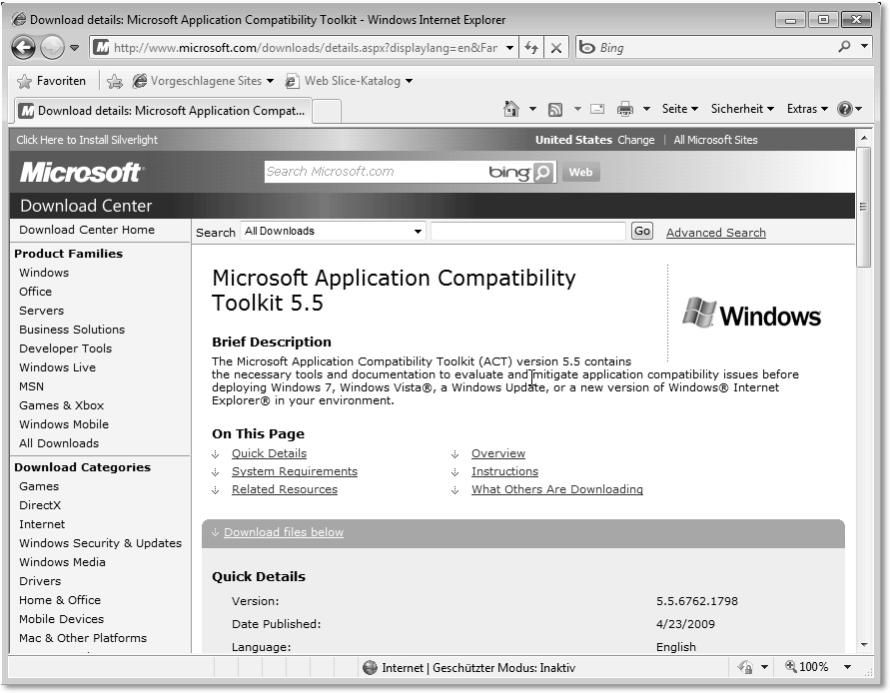 Application Compatibility Toolkit (ACT): Windows 7 für ...