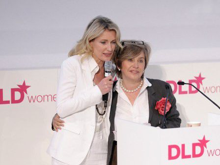 Maria Furtwängler mit DLD-Macherin Steffi Czerny bei DLDwomen 2011