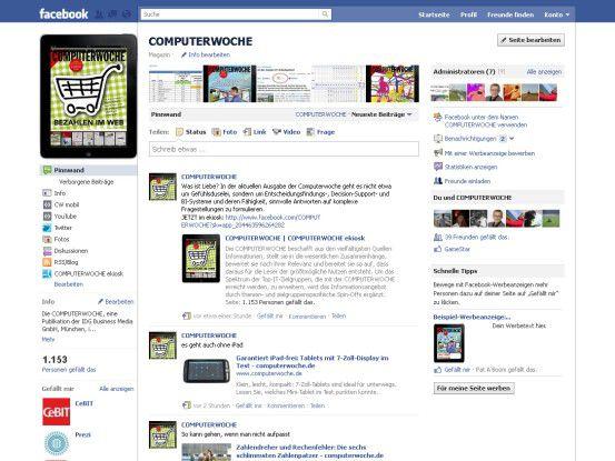 Die Seite von COMPUTERWOCHE bei Facebook - auch ein Schritt zur Anpassung an Consumer IT: Laut IDC gilt es, diesen Trend zu nutzen, nicht zu verdammen.