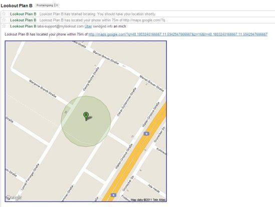 Ein Suchradius von 75 Meter (GPS deaktiviert) ist nicht gerade optimal, aber immerhin...