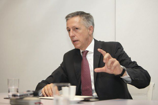 """HP-Deutschlandchef Volker Smid sagen viele Kunden: """"Ich möchte die Cloud, aber ich möchte sie selbst kontrollieren."""""""