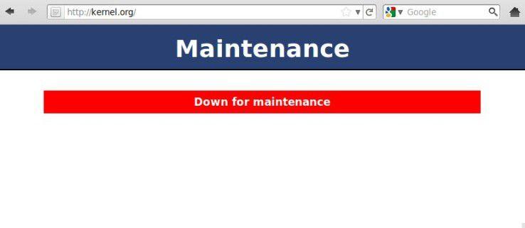 Wartungs-Modus: kernel.org ist nun schon ungefähr einen Monat lang offline.