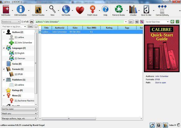 Calibre konvertiert E-Books.