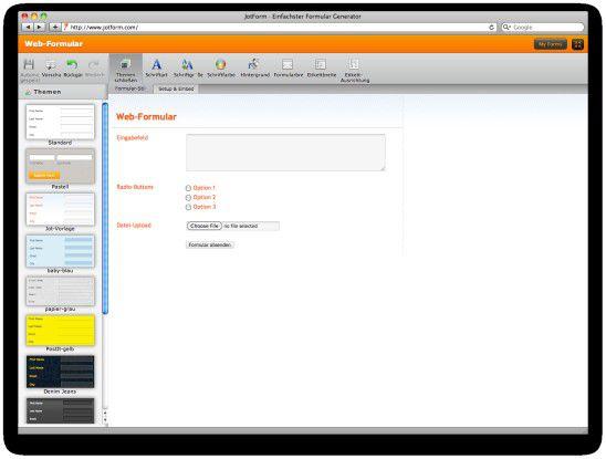 Web-Formulare einfach erstellt mit Jotform.