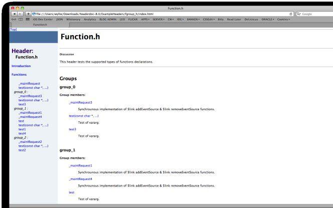 Codedokumentation mit HeaderDoc.