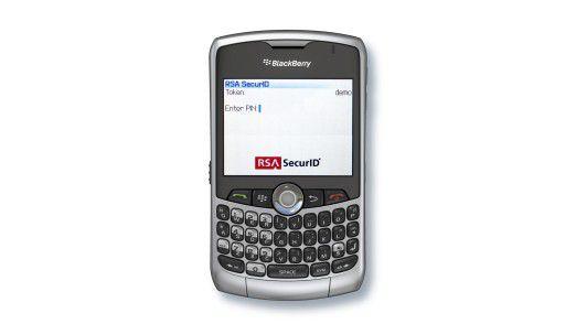 Passwortspender: Mit dem RSA SecurID Software Token wird unter anderem der Backberry zum Security Token und erzeugt nach PIN-Eingabe Einmal-Passwörter.