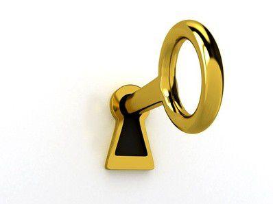 Ohne den richtigen Schlüssel geht nichts.