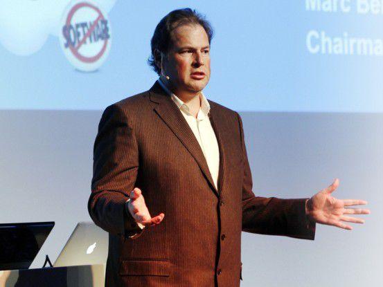 Salesforce-Chef und Gründer Mark Benioff: Kommunikation via sozialer Plattformen ernst nehmen.