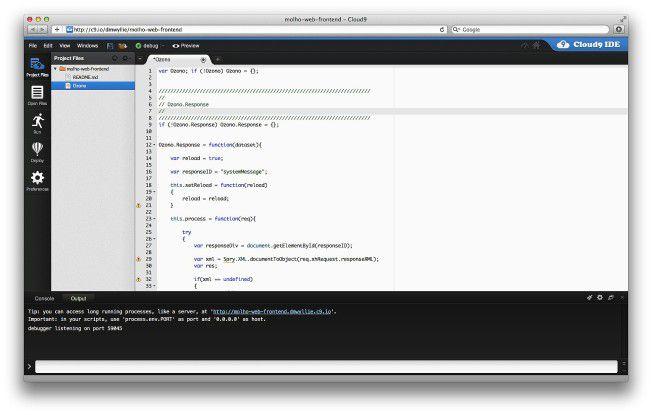 Verwaltung von Javascript-Projekten in der Cloud.