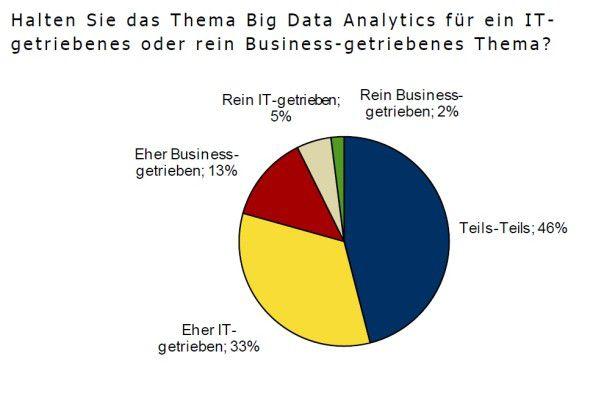 Technokratisches Denken: Die wenigsten Befragten halten die Analyse großer Datenmengen für ein Business-getriebenes Thema.
